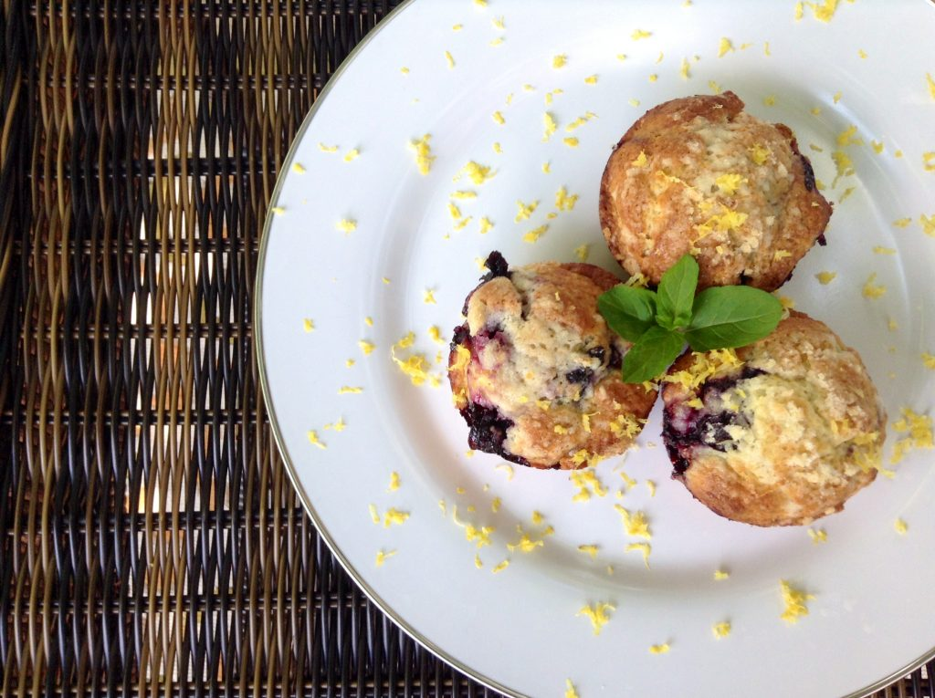 Mascarpone Blueberry and Lemon Muffins
