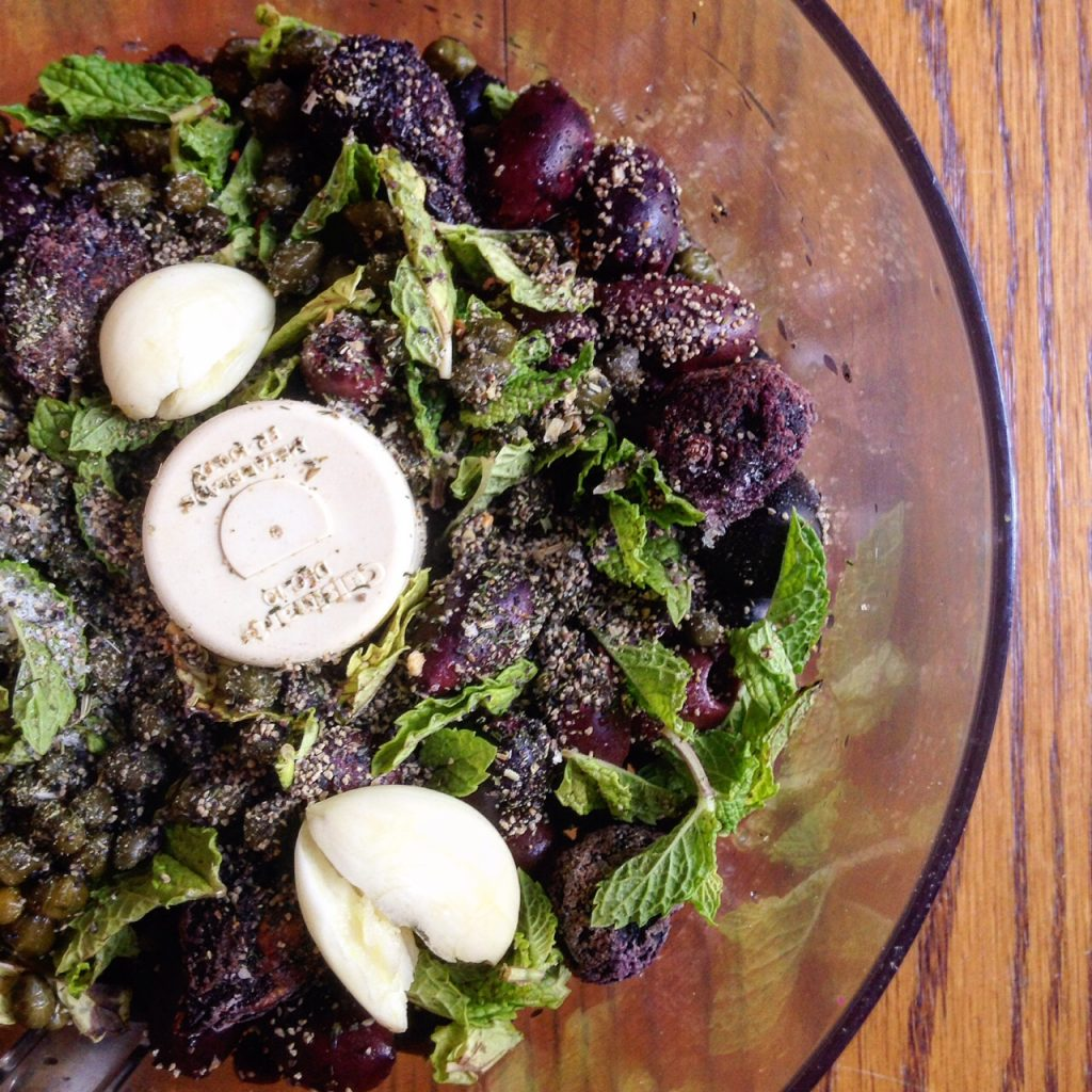 Olive Tapenade with Figs and Mint