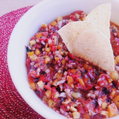 Fire-Roasted Tomato Salsa to Celebrate Dad