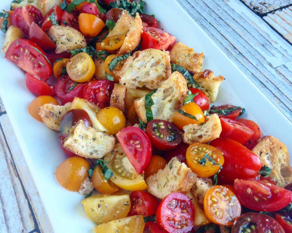 "Panzanella Salad with ""Wild Wonders"" Tomatoes"