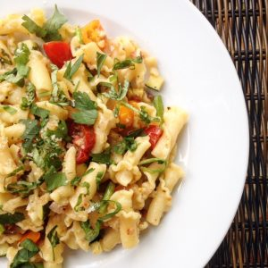Campanelle Lemon Summer Pasta with Pancetta