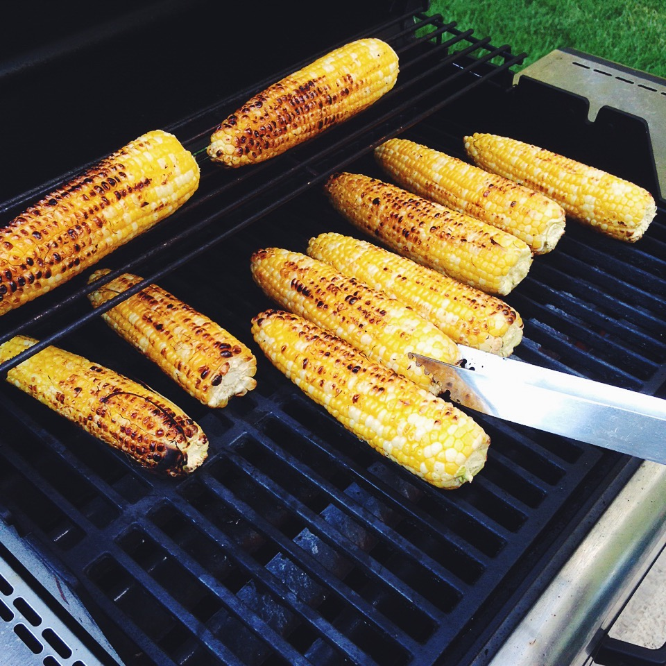 Sweet corn on the grill
