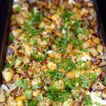 ChCheesy Roasted Potatoes