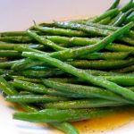 Haricot Vert with Garlic Olive Oil and Spicy Barbacoa