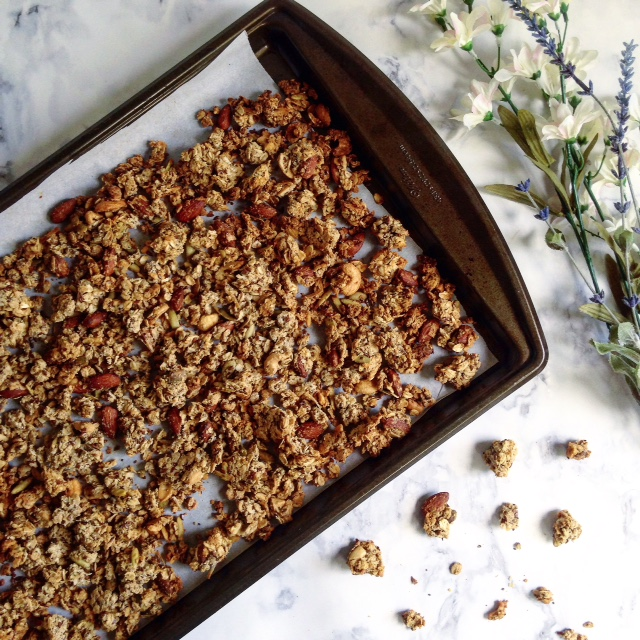 Spiced Coconut Granola with Apricot Honey